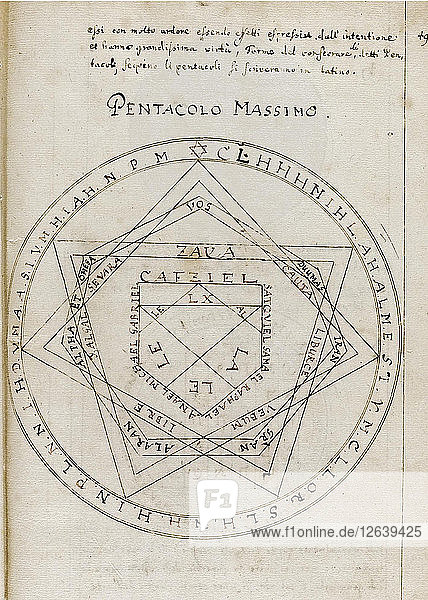The Key of Solomon (Clavicula Salomonis)  Early 18th century. Artist: Anonymous