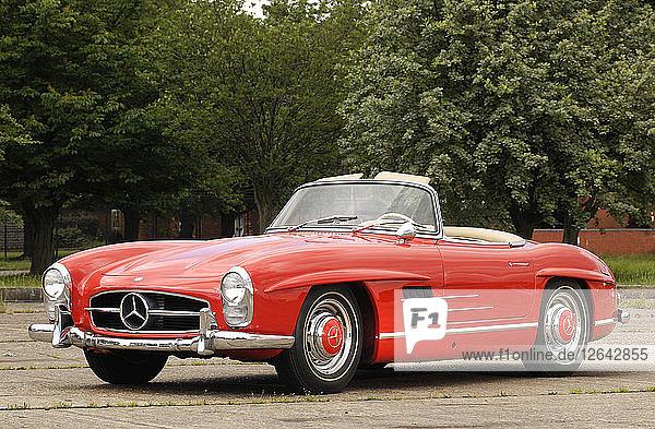 1961 Mercedes Benz 300SL Artist: Unknown.