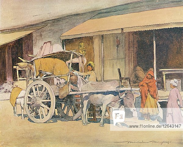 A Bullock-cart  Ajmere  1905. Artist: Mortimer Luddington Menpes.