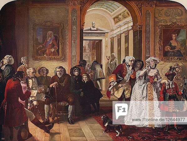 Dr. Johnson in Ante-Room of Lord Chesterfield  1748  (c1915). Artist: Edward Matthew Ward.