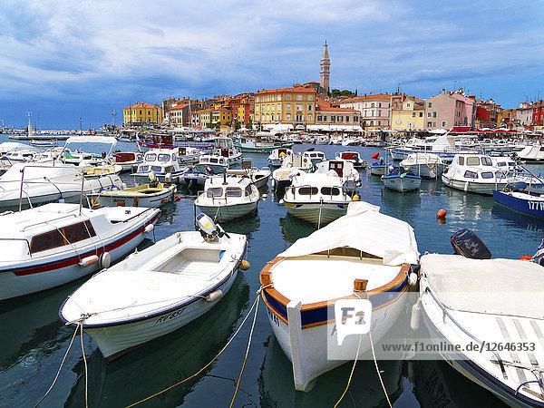 Hafen  Rovinj  Istrien  Kroatien  Europa