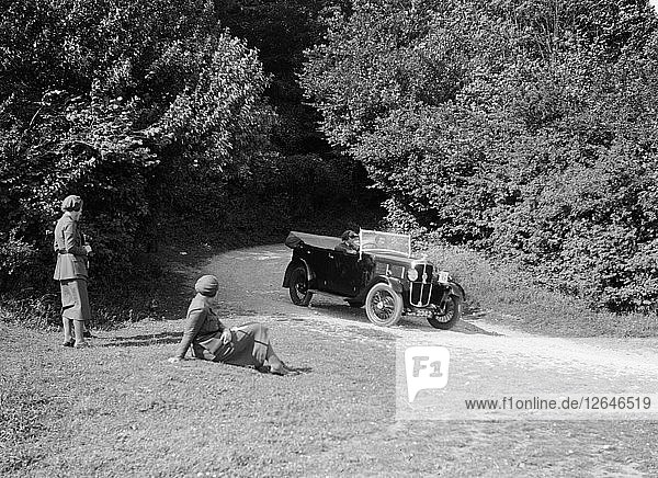 Standard Tourer taking part in a First Aid Nursing Yeomanry trial or rally  1931. Artist: Bill Brunell.