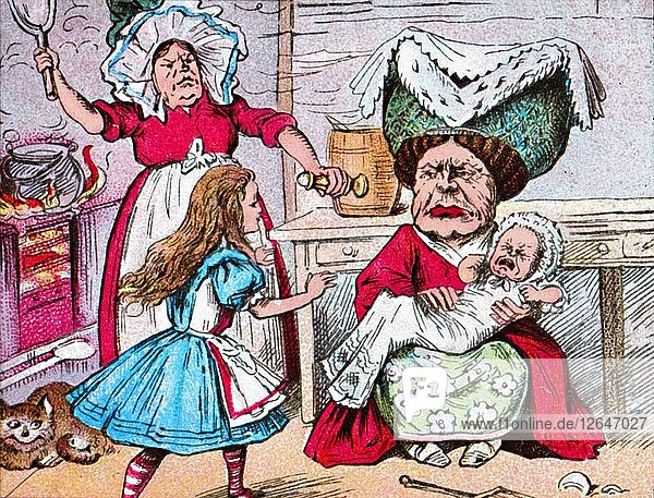 Alice  the Duchess  and the Baby  c1910. Artist: John Tenniel.