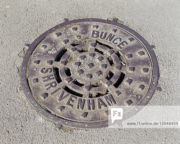 Drain cover plate made by Bunce of Shrivenham  Swindon  Wiltshire  2006. Artist: Peter Williams.