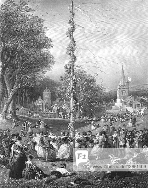 The May-pole  1866. Artist: Charles Cousen.