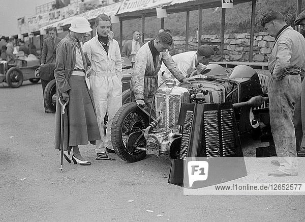 MG C type Midget of Hugh Hamilton in the pits at the RAC TT Race  Ards Circuit  Belfast  1932. Artist: Bill Brunell.