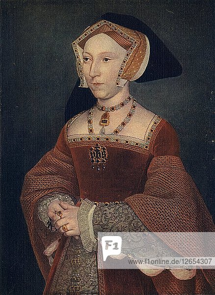 Jane Seymour  1536-1537  (1909). Artist: Hans Holbein the Younger.