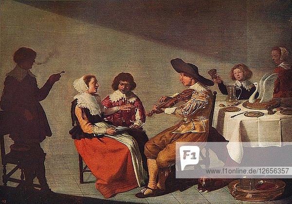 A Musical Party  1631  (c1915). Artist: Jacob van Velsen.