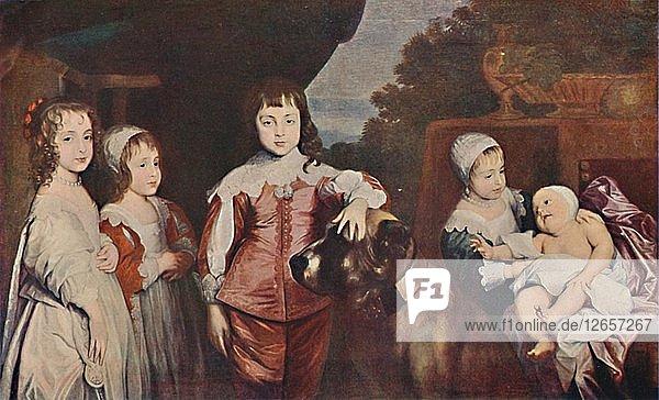 Five Eldest Children of Charles I  1637  (1903). Artist: Anthony van Dyck.