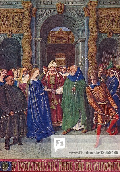 The Marriage of the Virgin  c1455  (1939). Artist: Jean Fouquet.