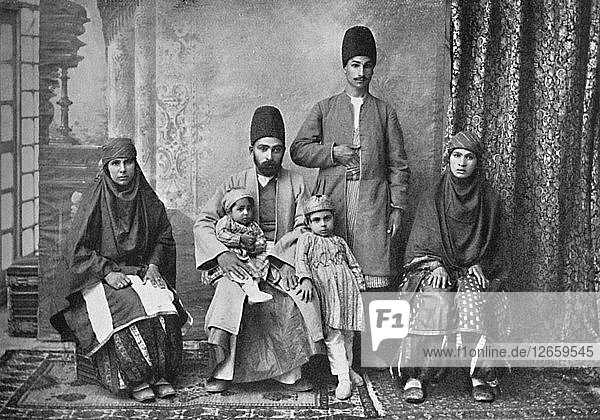 A Persian Parsi family  1902. Artist: Unknown.