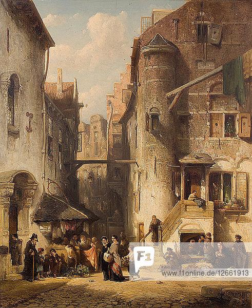 A street in Amsterdams Jewish quarter  1851.