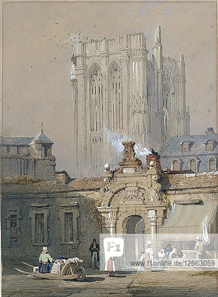 The Old Tower  Cologne Cathedral  early 19th century. Artist: Samuel Prout.