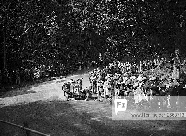 Aston Martin of Winifred Pink competing in the MAC Shelsley Walsh Hillclimb  Worcestershire  1923. Artist: Bill Brunell.