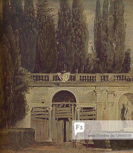 Villa Medicis en Roma  (View of the Garden of the Villa Medici )  1634  (c1934). Artist: Diego Velasquez.