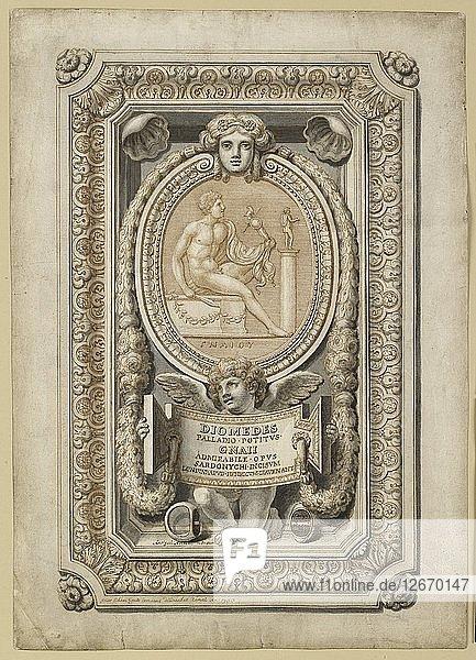 Design for an engraved gem in an ornamental setting  1722. Artist: Girolamo Odam.