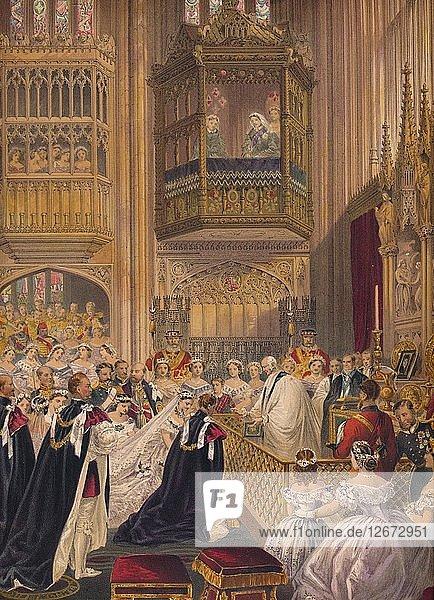 The Marriage  1863. Artist: Robert Dudley.