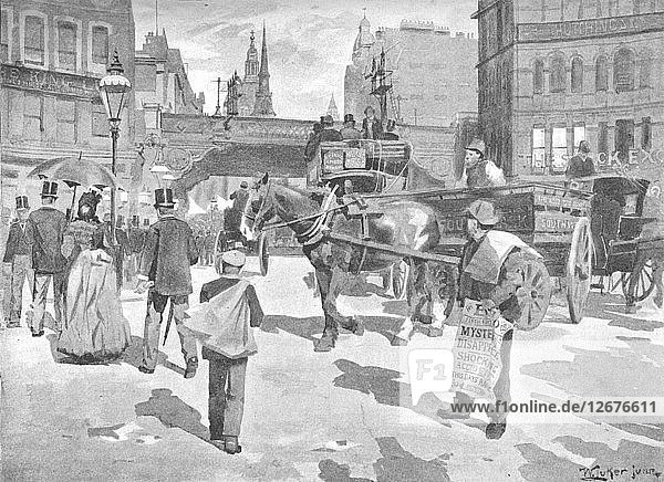 Ludgate Circus  1891. Artist: William Luker.