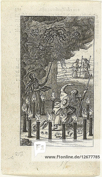 Witch and demons  1638.