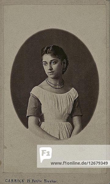 Portrait of Princess Maria Konstantinovna of Bagrationi Imereti.