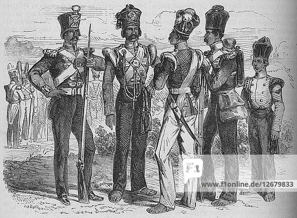 Group of Sepoys  c1880. Artist: Unknown.