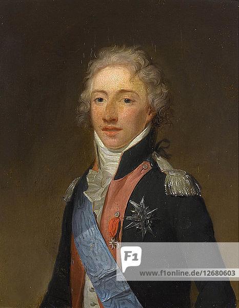 Portrait of Louis Antoine of France  Duke of Angoulême (1775-1844)  .