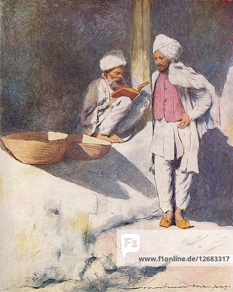 A Learned Man of Peshawur  1905. Artist: Mortimer Luddington Menpes.