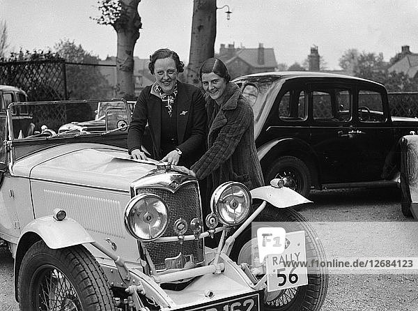 Riley Sprite of Kay Hague at the RAC Rally  1938. Artist: Bill Brunell.
