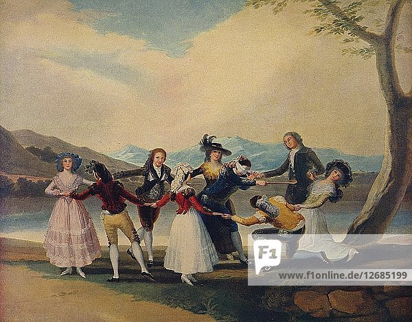 La Gallina Ciega  (Blind Mans Buff)  1788  (c1934). Artist: Francisco Goya.
