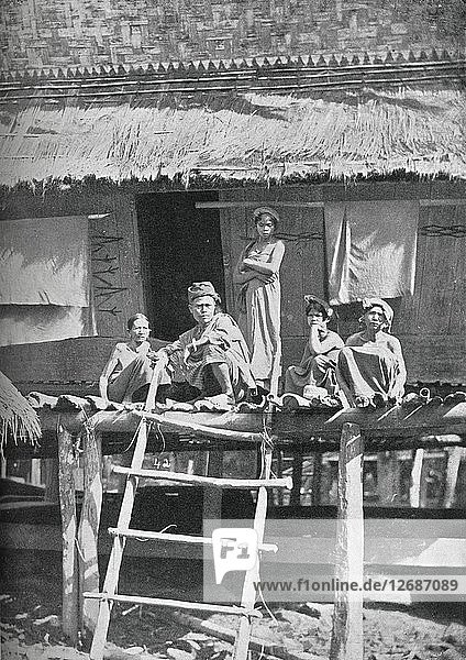 A group of Bataks from the interior of Sumatra  1902. Artist: GR Lambert & Co.