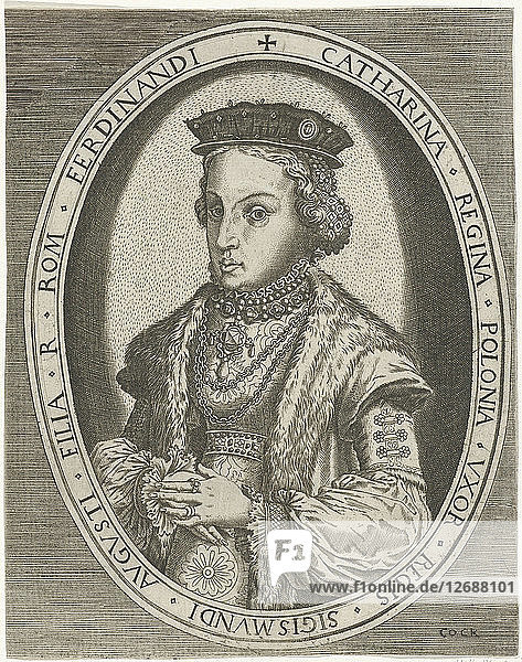 Portrait Catherine Jagiellon (1526-1583)  ca 1550-1565.