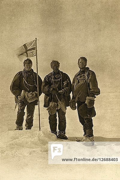 The Northern Party at the South Magnetic Pole,  17 January 1909. Artist: Unknown.
