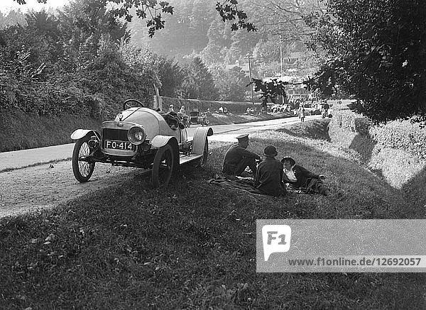 Enjoying a roadside picnic  GWK open 2-seater  c1920s. Artist: Bill Brunell.