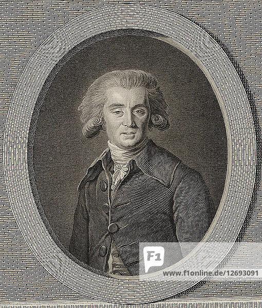 Portrait of the composer André Ernest Modeste Grétry (1741-1813)  1786.