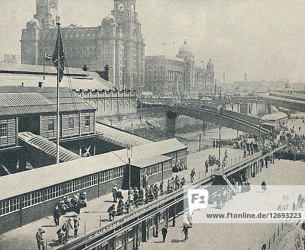 Liverpool Landing Stage is one of the most interesting river fronts in Great Britain  1937. Artist: Unknown.