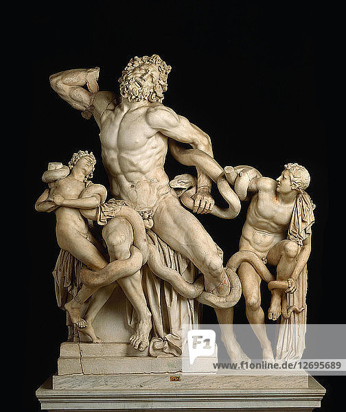 Laocoön and his sons (The Laocoön Group)  1st century BC.