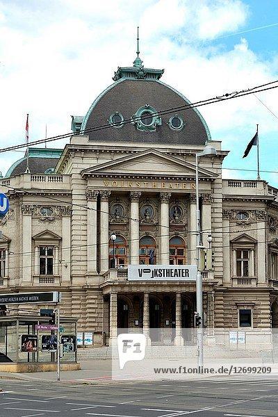 The Volkstheater in the Austrian capital Vienna - Austria.