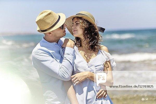 Couple at beach  holidays  summer  love  flirt