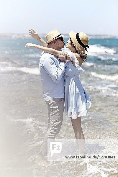 Couple at beach  love  summer  holidays  playful
