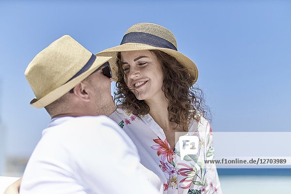 Couple on holiday  love  togetherness