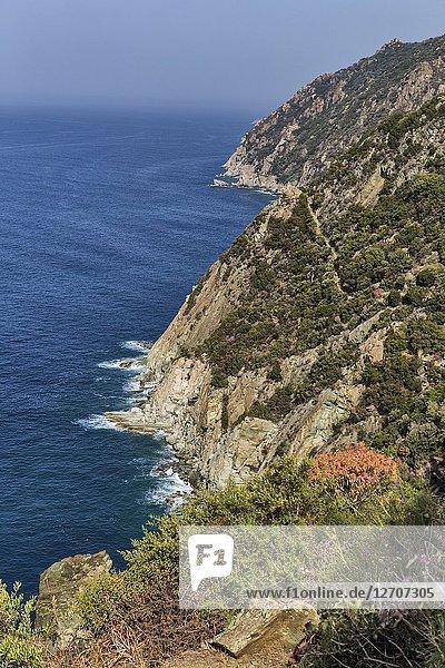 Aegean Sea coast  Athos peninsula  Greece.