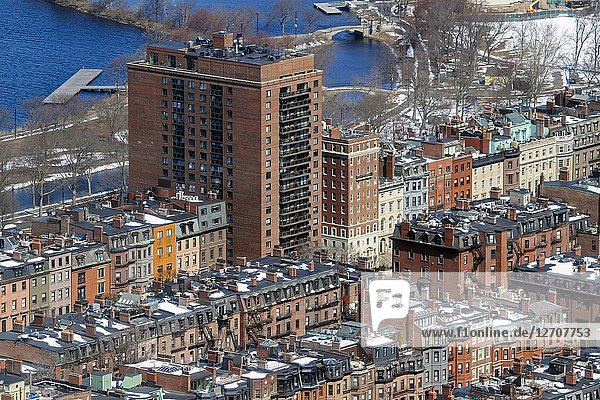 Back Bay  Boston  Massachusetts  United States.