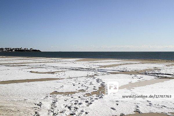 Winter at Hampton Beach  Hampton  New Hampshire  United States.