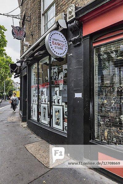 Souvenir shop  Portobello Road  London  England  UK.