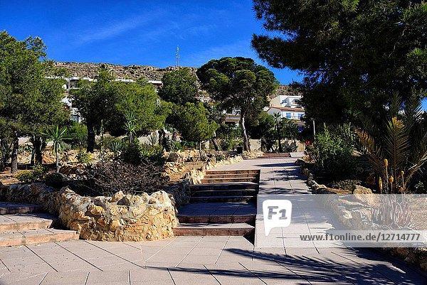 Santa Pola - coastal resort near Alicante  Park del Maestral  Mediterranean Sea coast  comarca of Baix Vinalopo  Valencian Community  Alicante  Spain  Europe