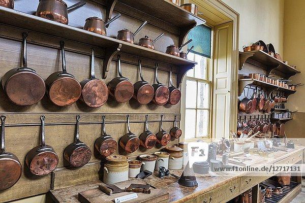 Kitchen  Culzean castle interior  Ayrshire  Scotland  UK.