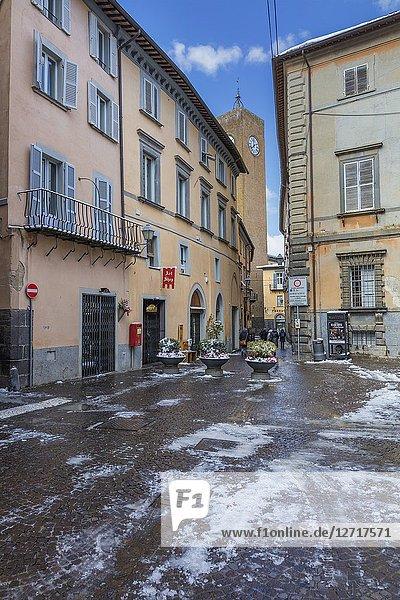 Street in old town  Orvieto  Umbria  Italy.