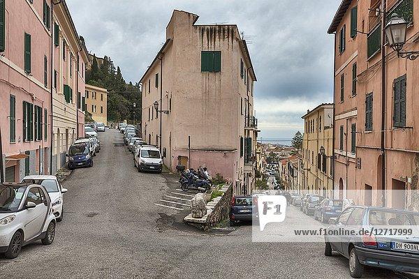 Street in old town  Terracina  Lazio  Italy.