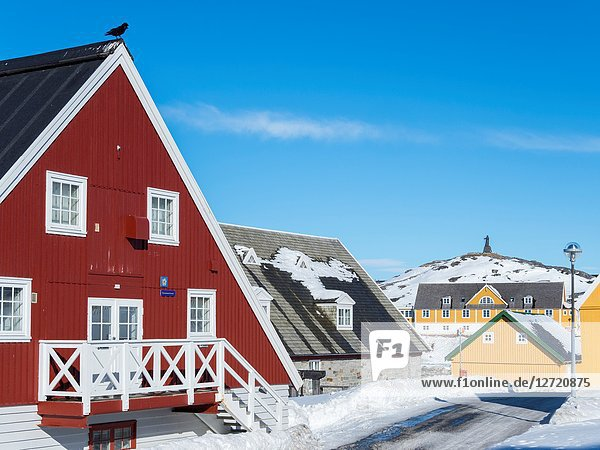 The National Museum at the waterfront of the colonial harbour. Nuuk  the capital of Greenland. America  North America  Greenland.