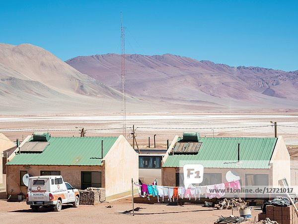 Village Tolar Grande in Argentina near the salt flat Salar de Arizaro. South America  Argentina.